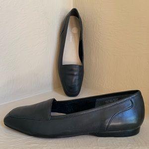 Enzo Angiolini Black Grey Leather Flats